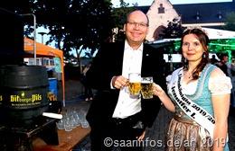 Schirmherr Andreas Heinz und Lisenkönigin Jennifer I.