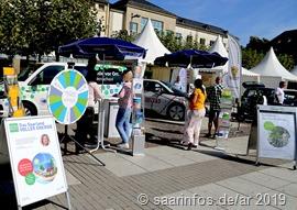 """9021 Ausstellung """"Klimabewusst in die  Zukunft"""" auf dem Kleinen  Markt in Saarlouis"""