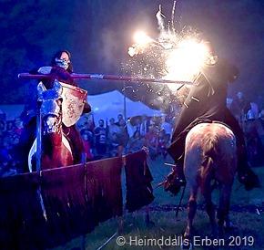 Nächtliche Reiter Feuer  Show