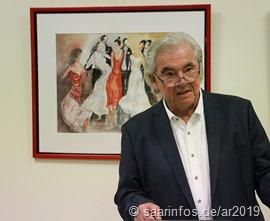 Manfred Klein gab einen Einblick in seine Kunst
