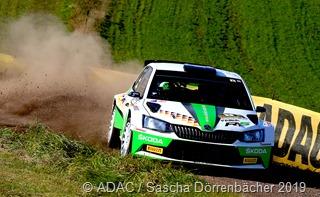 Fabian Kreim gewann zum dritten Mal in Folge die Deutsche Rallyemeisterschaft