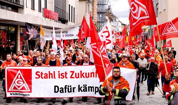 Protestzug in Dillingen