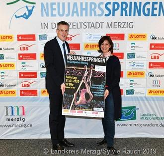Marcus Hoffeld und Daniela Schlegel-Friedrich freuen sich bereits auf die 6. Auflage der Veranstaltung 2020. Foto: Landkreis Merzig-Wadern/Sylvie Rauch 2020