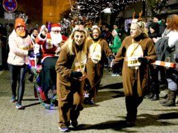 541 Santas versetzen beim 12. Santa Lauf Dillingen