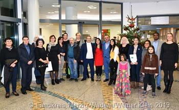 Die Landrätin Daniela Schlegel-Friedrich hieß die neuen deutschen Staatsbürger herzlich willkommen. (Foto: Landkreis Merzig-Wadern/Werner Klein)