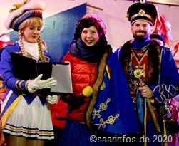5369 Das Prinzenpaar fordert den Bürgermeister zur Übergabe auf