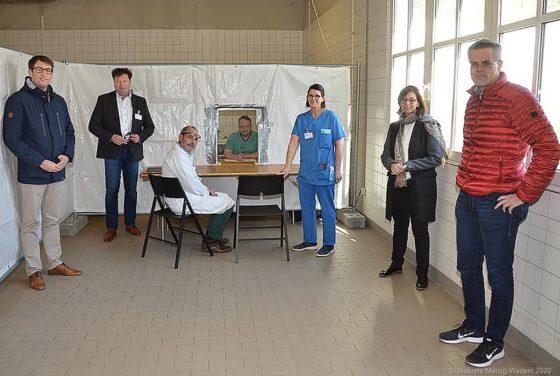 Vorbereitungen für die Aufnahmen von Corona Patienten