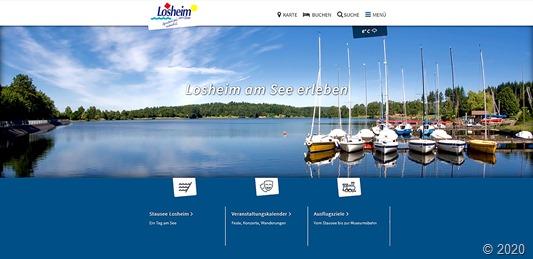 Neue Tourismuswebsite Losheim am See b