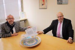 Bürgermeister Franz Josef Berg und Bundeswirtschaftsminister Peter Altmaier