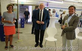Unser Foto zeigt (vlnr) Marion Jost, Jakob Fischer, Hauptamtsleiter Thomas Jacob 5602