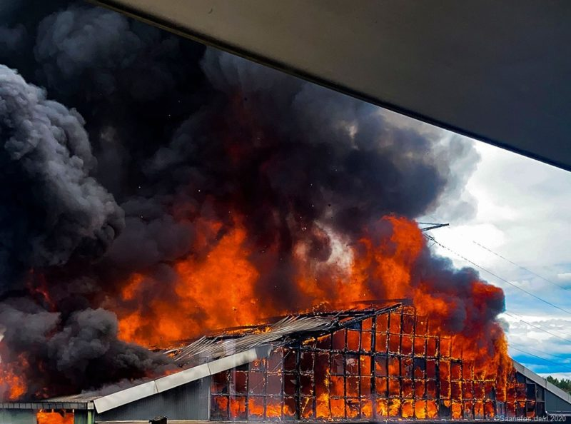 Großfeuer in Diefflen
