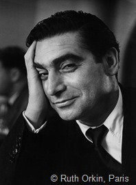 Robert Capa photographed by Ruth Orkin, Paris, FRANCE 1951
