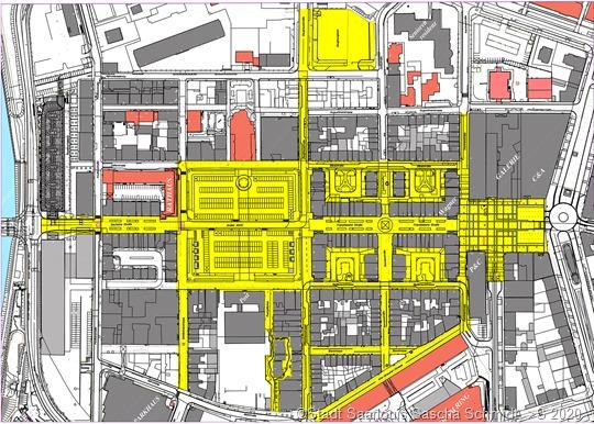 Der Plan zeigt in der Übersicht, für welche Straßen die Allgemeinverfügung gilt.