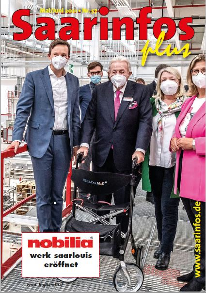Titelseite Saarinfos Plus - Ausgabe Mai Juni 2021
