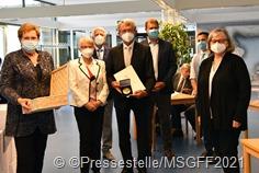 Gerhard_Ballas: (v. rechts) Monika Bachmann, Frau Ballas, Lothar Arnold, Gerhard Ballas, Jörg Schwindling, Dominik Becker, Dagmar Heib