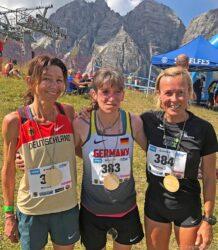 Martina Schumacher (LC Rehlingen) zum ersten Mal bei einer Weltmeisterschaft im Berglauf.