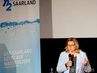 Anke Rehlinger beim Wasserstoffkongress b