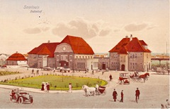 Saarlpouiser bahnhof um 1911