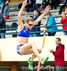 Michelle Weitzel siegte im Weitsprung