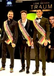 Wahl zur Miss Saarland 2018 / Mister Saarland 2018 in der Europagalerie Saarbrücken - Mister Saarland 2018 mit 2017 (M.)